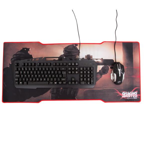 Kit Teclado Mouse e Mousepad Kmex Spartacus