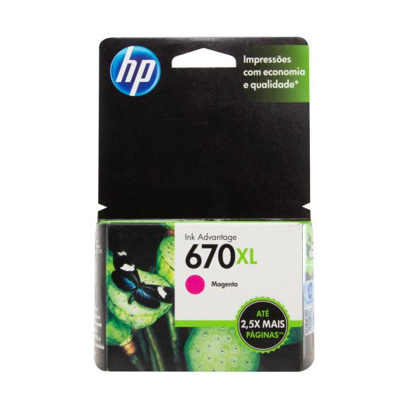 Cartucho de Tinta 670XL Magenta - HP