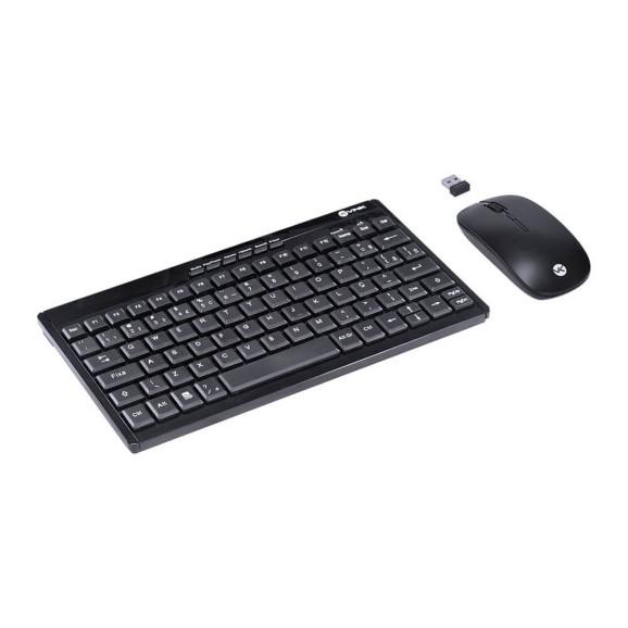 Kit teclado e mouse Dynamic Flat Vinik sem fio ABNT2/1200DPI