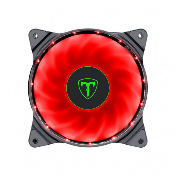 COOLER P/GABINETE T-DAGGER T-TGF300-R LED VERMELHO