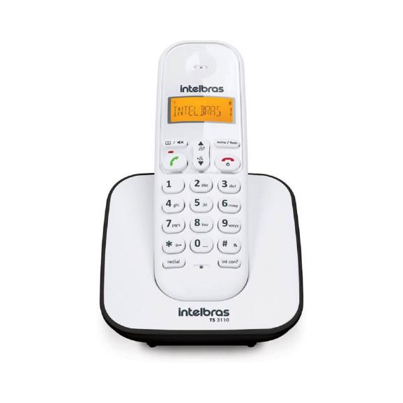 TELEFONE INTELBRAS S/FIO TS3110 ID BRANCO E PRETO
