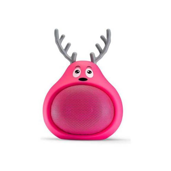 Caixa de som Tectoy Sound toon bluetooh Alce rosa