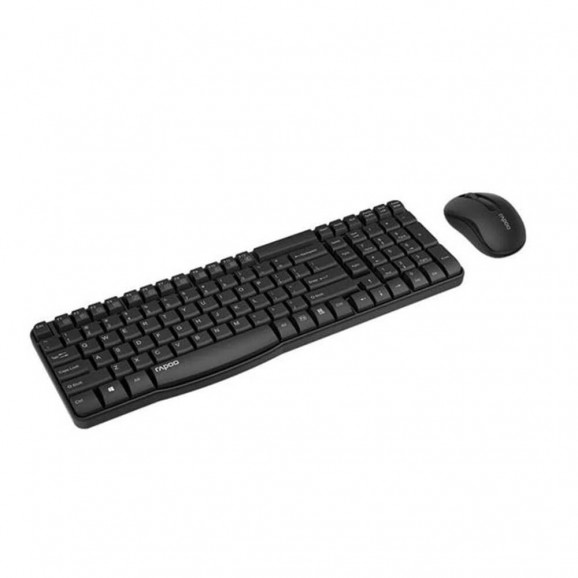 Kit teclado e mouse sem fio Rapoo X1800S preto