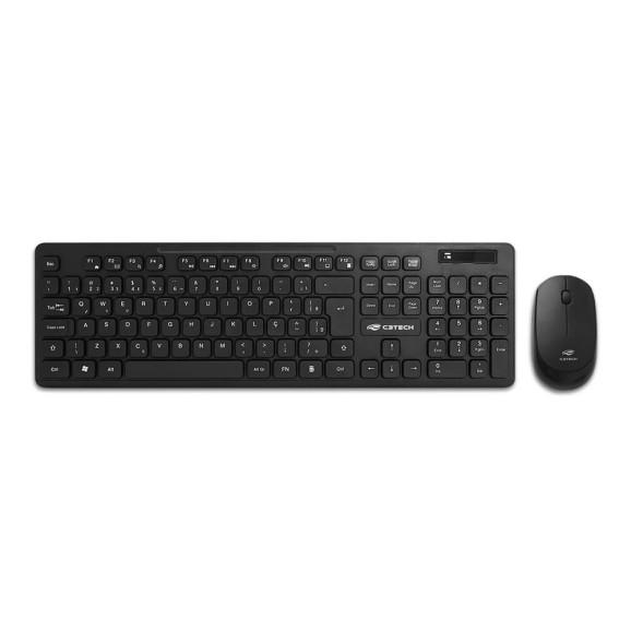 Kit teclado e mouse sem fio C3tech K-W20BK ABNT2/1000DPI preto