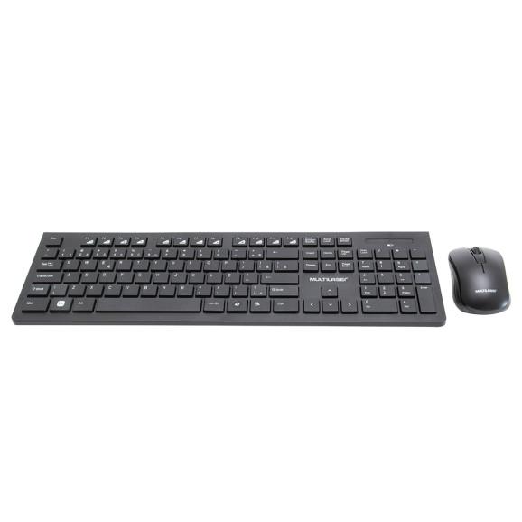 Kit Teclado e Mouse sem Fio Slim TC212 Multilaser