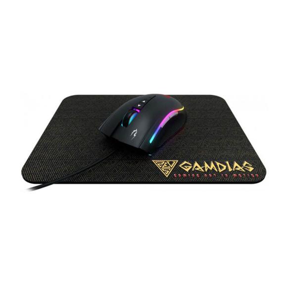 Kit mouse e mouse pad gamer Gamdias Zeus M2