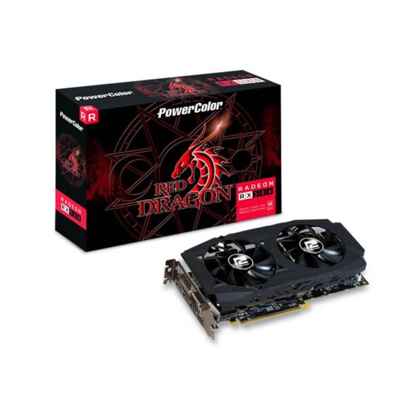 Placa de vídeo 8GB PCI EX Radeon Powercolor RX 580 DDR5