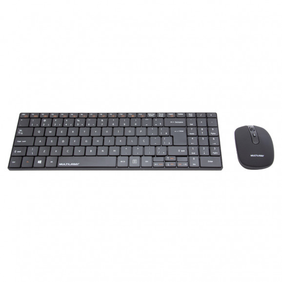 Teclado e Mouse sem Fio Combo Slim 2.4 GHZ TC202 Multilaser