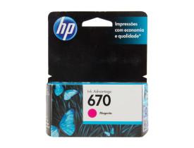 Cartucho de Tinta 670 Standard Magenta - HP
