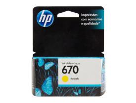 Cartucho de Tinta 670 Standard Amarelo - HP