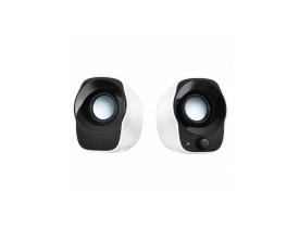 Caixas de som estéreos compactos Z120 Logitech preto e branco