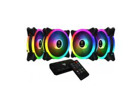 Kit cooler para gabinete com 4 fans Gamdias Aeolus M2 1204R