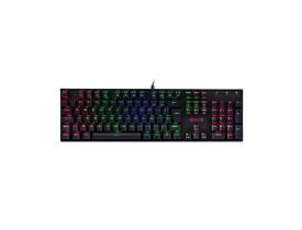 Teclado mecânico gamer Redragon Mitra switch marrom RGB