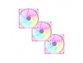 Kit cooler fan RGB 3 unidades Motospeed Hyrax rosa