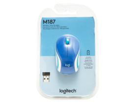 mouse-sem-fio-logitech-mini-m187-azul