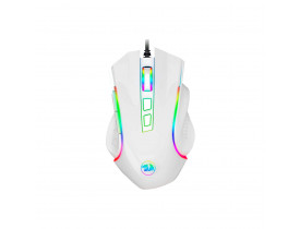 Mouse gamer Redragon Griffin Lunar M607W 7200 DPI branco e RGB